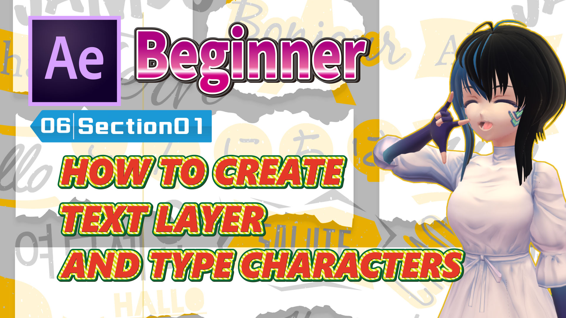 HOW TO CREATE TEXT LAYER AND TYPE CHARACTERS