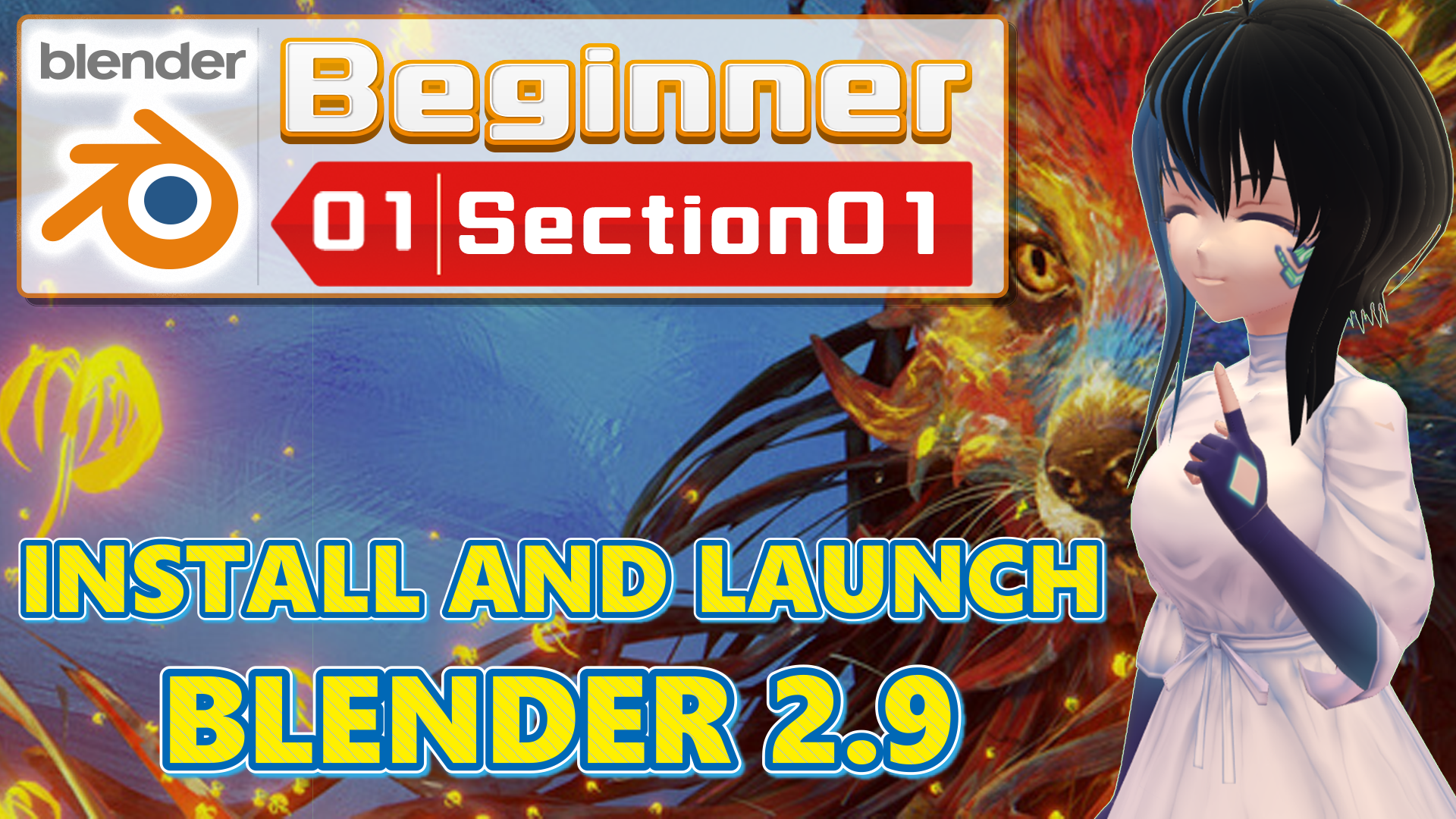 INSTALL AND LAUNCH BLENDER 2.9