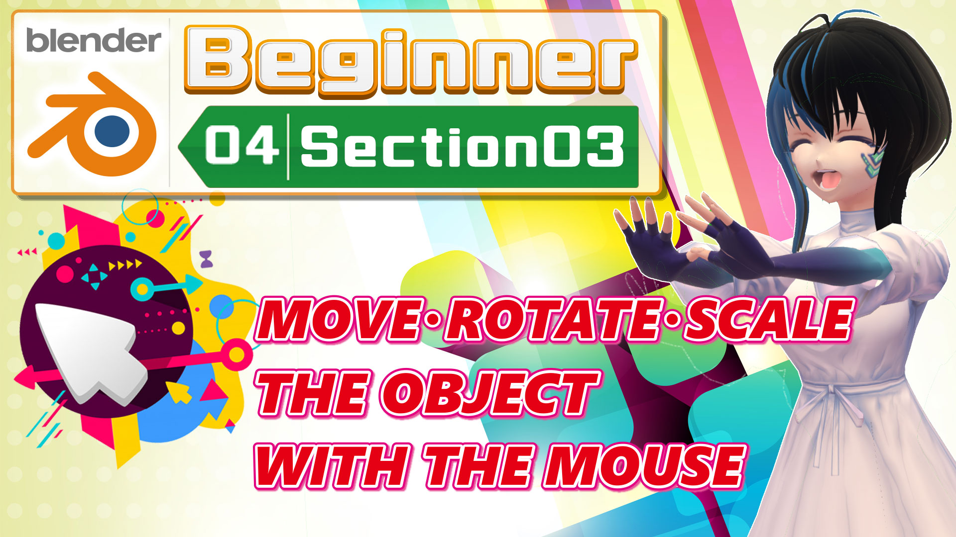 MOVE/ROTATE/SCALE THE OBJECT WITH THE MOUSE