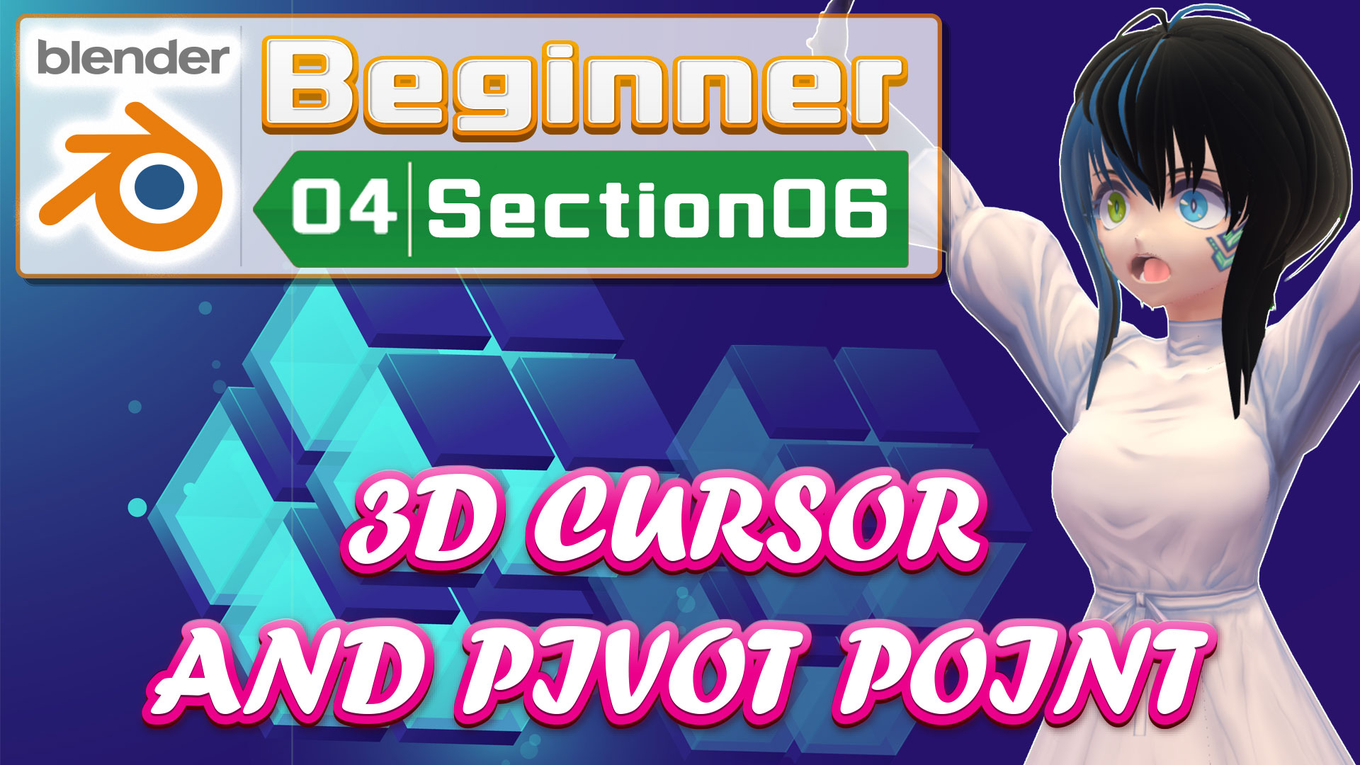 3D CURSOR AND PIVOT POINT