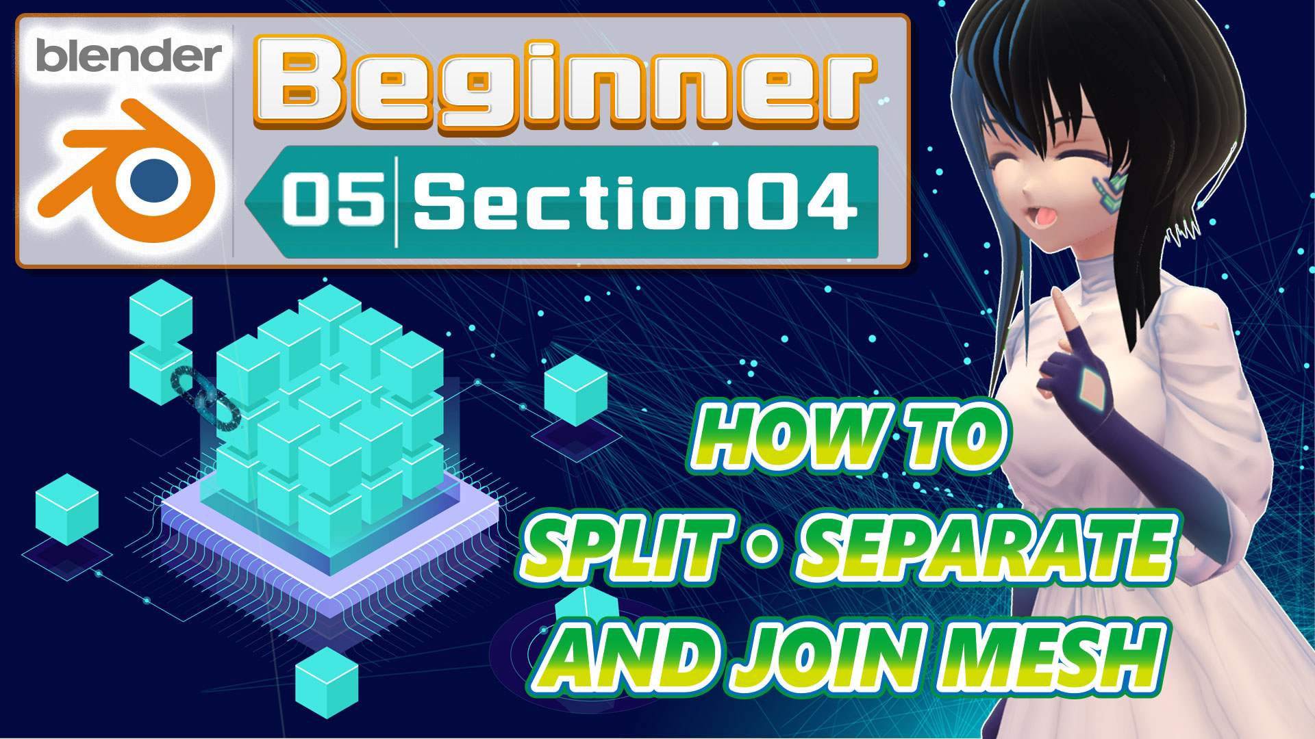HOW TO SPLIT /SEPARATE AND JOIN MESH